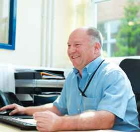 A member of staff at PGS Global Logistics