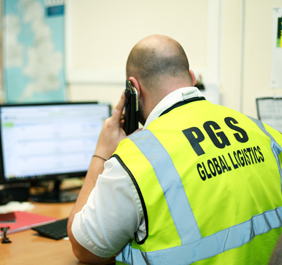 Man working at PGS Global Logistics