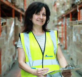 Woman working at PGS Global Logistics