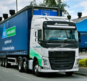 The PGS Global Logistics lorry heading out