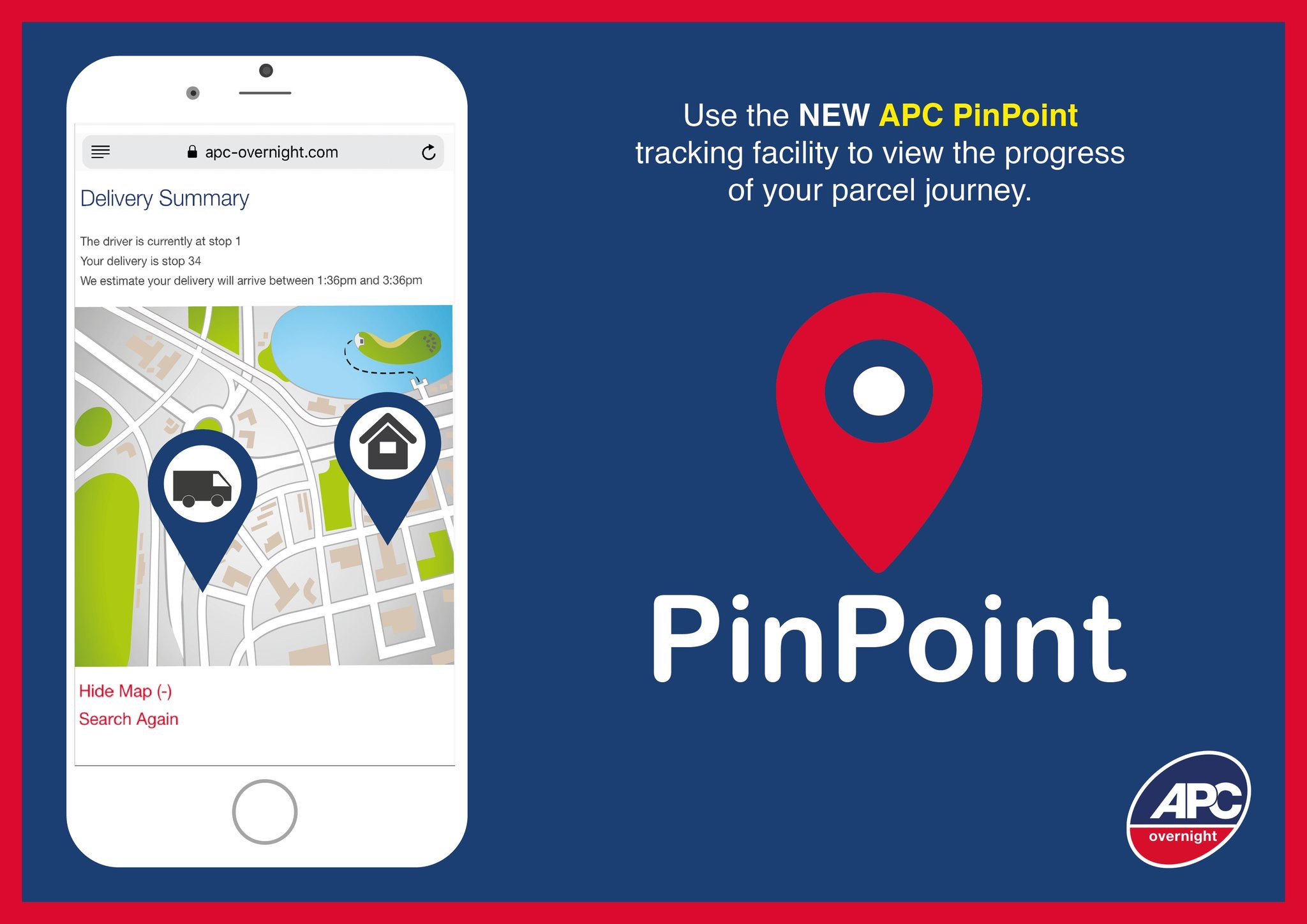 APC Pinpoin Parcel Tracking Service
