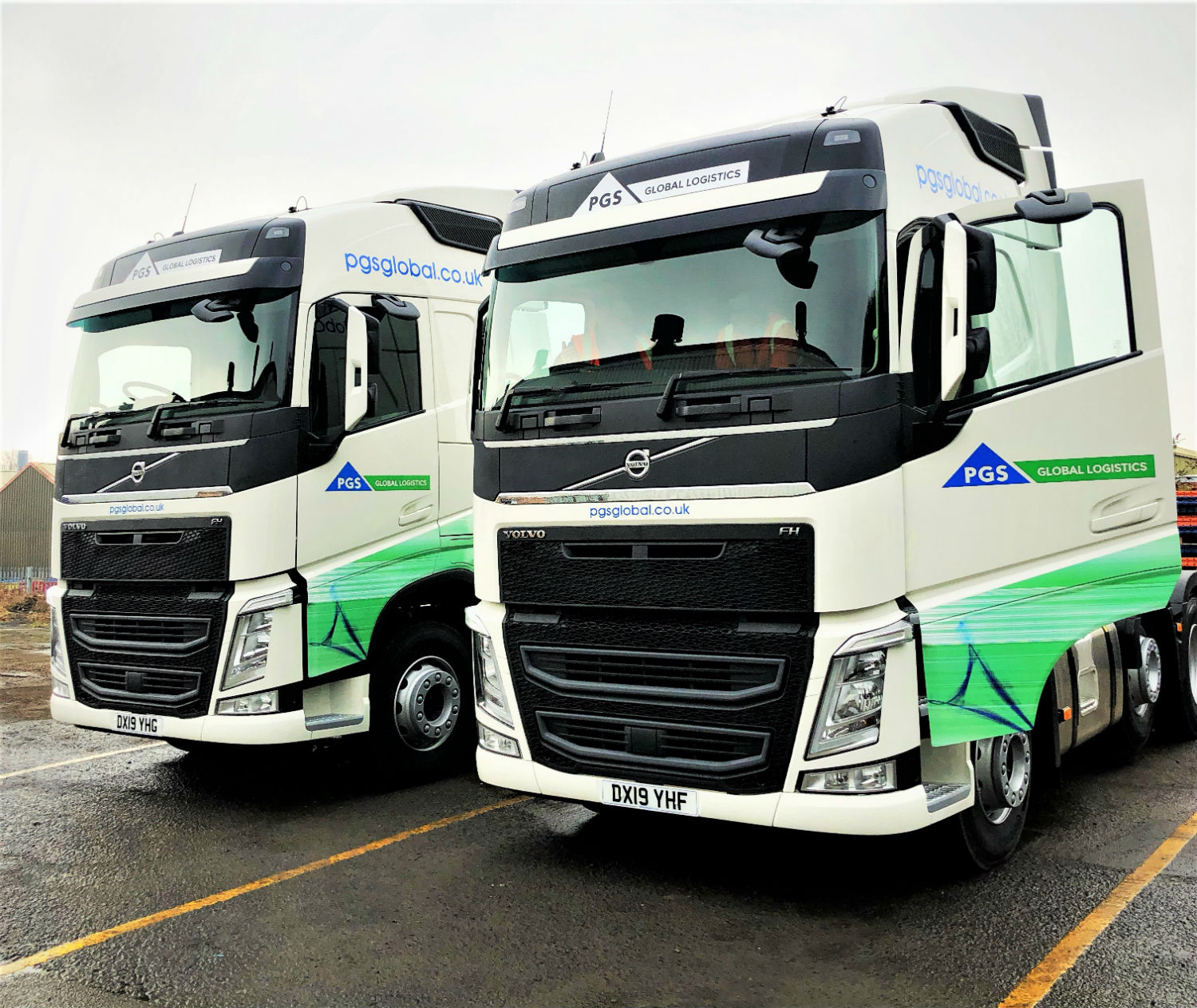 two Volvo FH Globetrotter tractor units